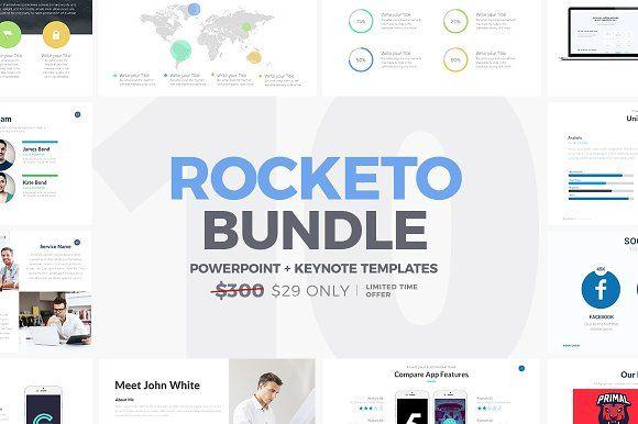 Rocketo Powerpoint + Keynote Bundle by Rocketo Graphics on @creativemarket