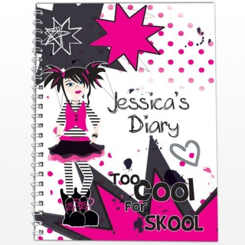 Personalised Diary - Too Cool Girl  from Personalised Gifts Shop - ONLY £7.99