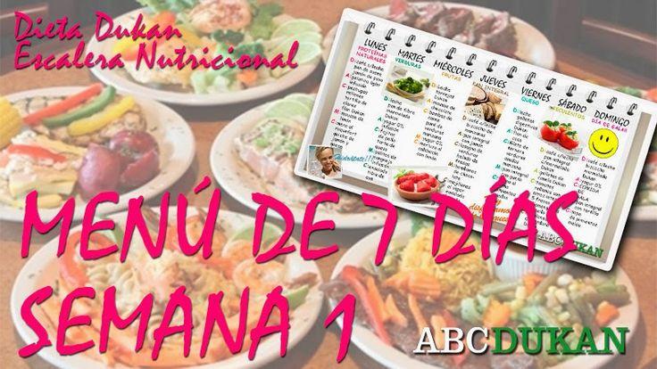 Dieta Dukan   Contigo paso a paso. Recetas, información y guia.: MENU DE 7 DÍAS NUEVA DIETA DUKAN