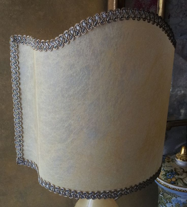 Amber Veined Parchment Half Lamp Shade