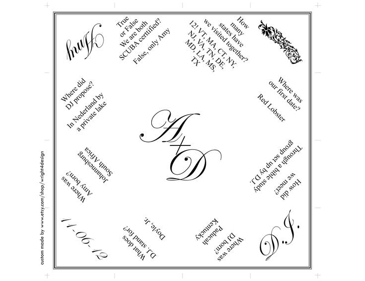 custom printable wedding cootie catcher on etsy com by