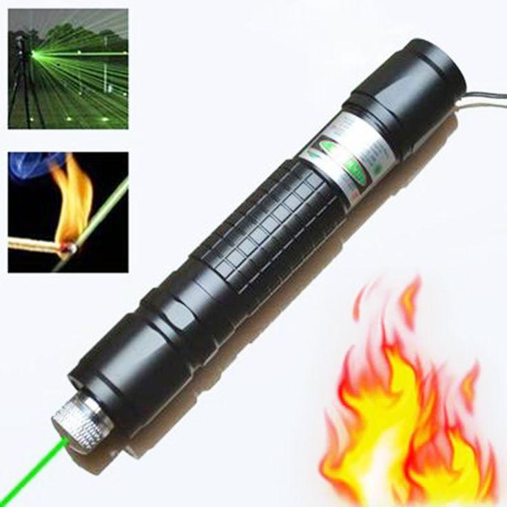 ハイパワーグリーンレーザー狩猟レーザー視力ライフルスコープライフルスコープ532nmの強力なレーザーポインター(電池含まず)
