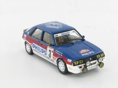 RENAULT 11 TURBO - J. Ragnotti - P.Thimoner - 1987     Uma potência acessível. Concebido mais como um automóvel para as equipas de clientes da marca do que para vencer o Campeonato do Mundo de Ralis, o Renault 11 Turbo, que sucedeu ao R 5 Turbo, conquistou importantes vitórias na sua categoria e venceu vários campeonatos nacionais a nível europeu.