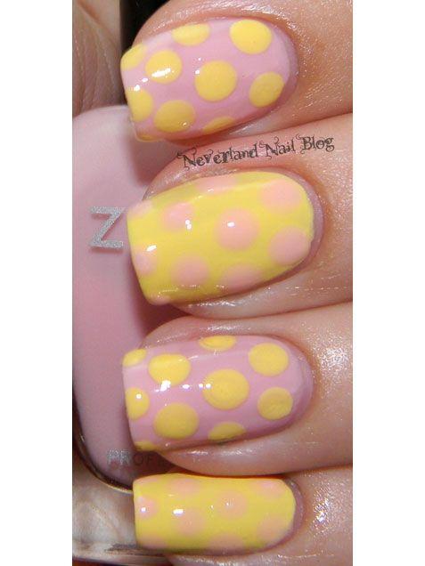 Polka dots have never looked so cute! #nails #nailart http://www.ivillage.com/easter-nail-art-nail-designs/5-a-526787#