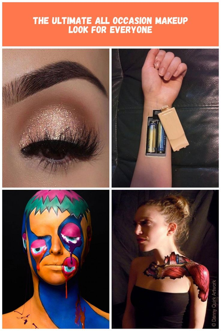Astonishing eye makeup with glitter we have here. body art Makeup The Ultimate A…