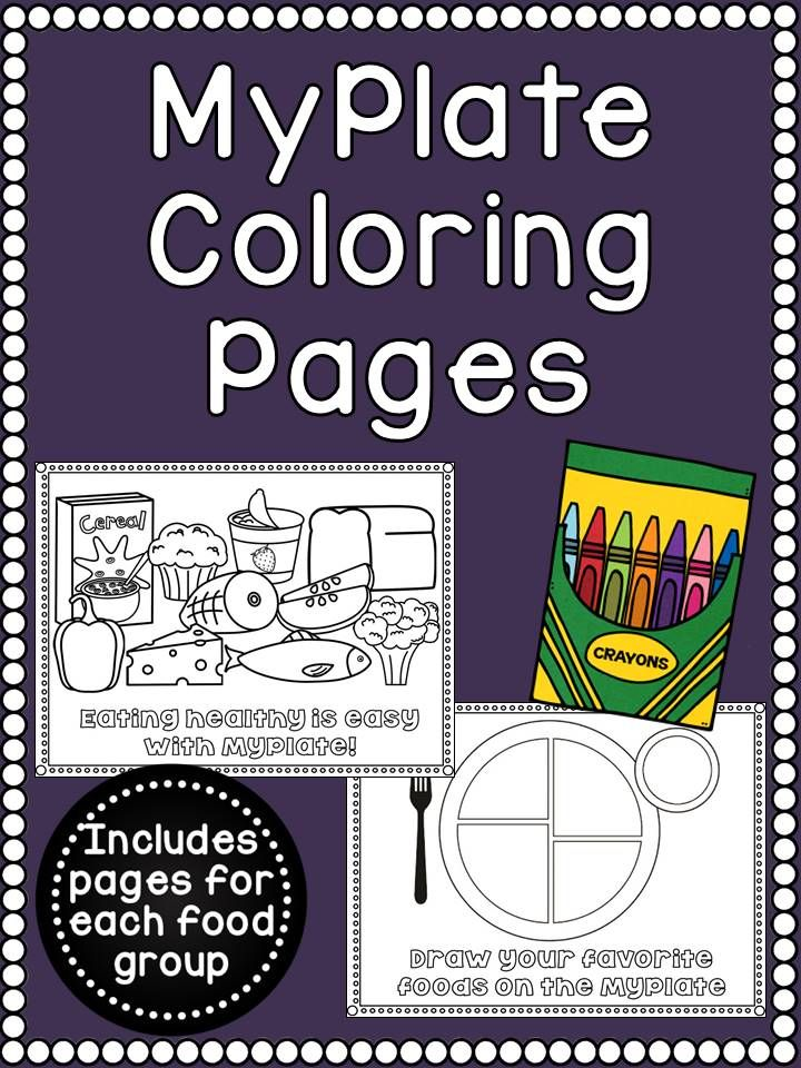 Myplate Food Group Coloring Pages Set Of 7 Coloring Pages