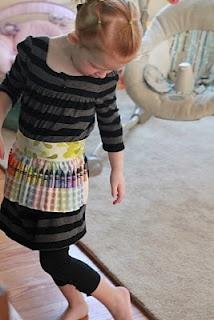Crayon Apron Sewing Tutorial
