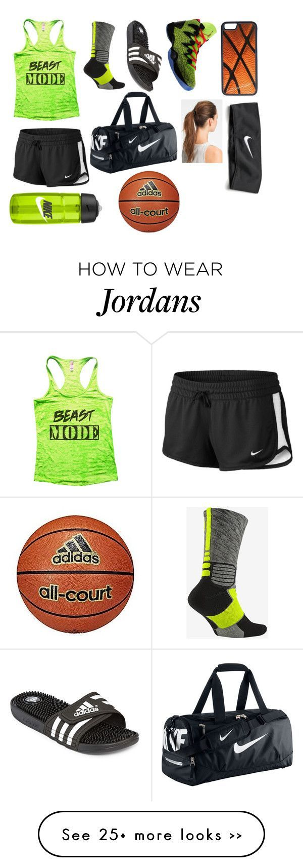 """Getting ready 4 basketball"" by hulk-77 on Polyvore featuring NIKE, adidas, L. Erickson and CellPowerCases #basketballclothes"
