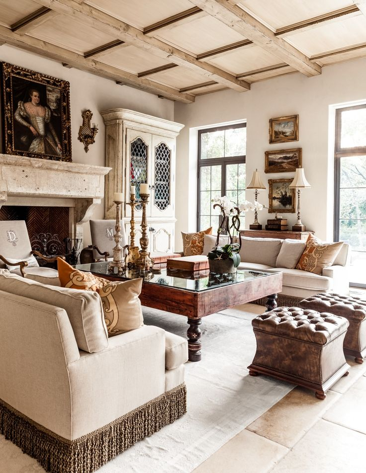 Mediterranean Style Home Infused With Elegance In Dallas. Living Room  IdeasLiving ...