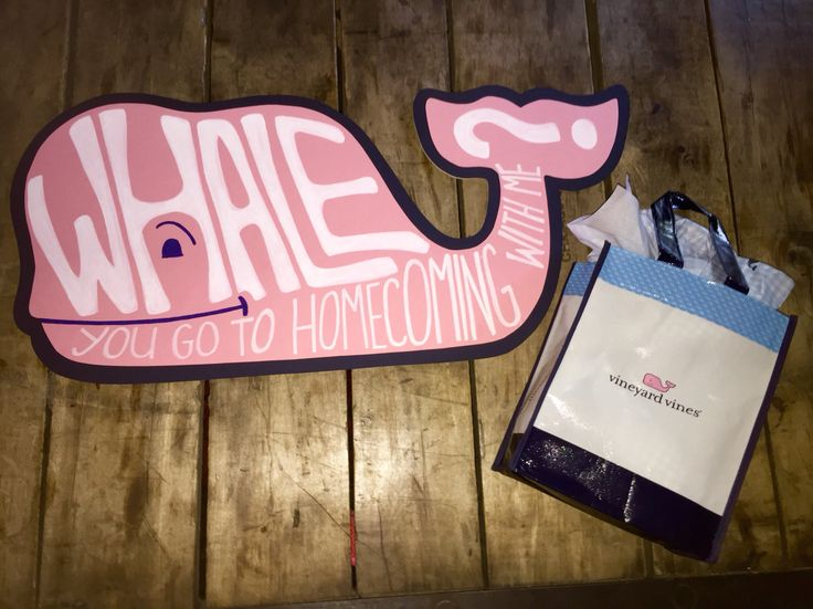 Vineyard Vines Whale invite invitation homecoming prom preppy