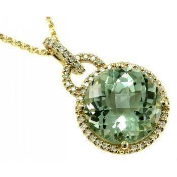 Women S Fashion Jewelry Green Amethyst White Diamond