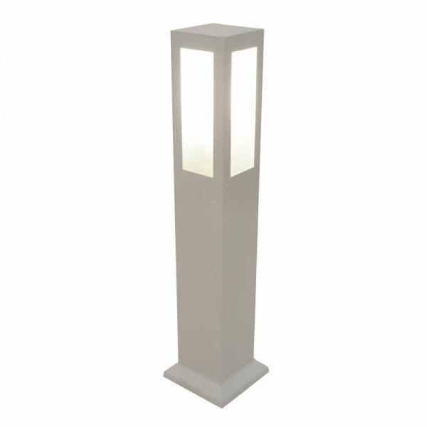 Balizador Fael, Medidas: H75 x L8 Base: 11cm, Material: Alumínio  Cor: Branco, Quantidade de lâmpadas: 1 (não inclusa), Base: E27, Uso Externo
