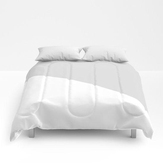 Grey Comforters by Bravely Optimistic   Society6