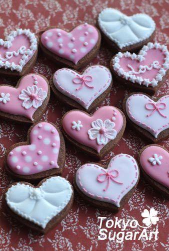 バレンタインアイシングクッキーツアー Valentine icing cookies | SugarArtist Sachiko