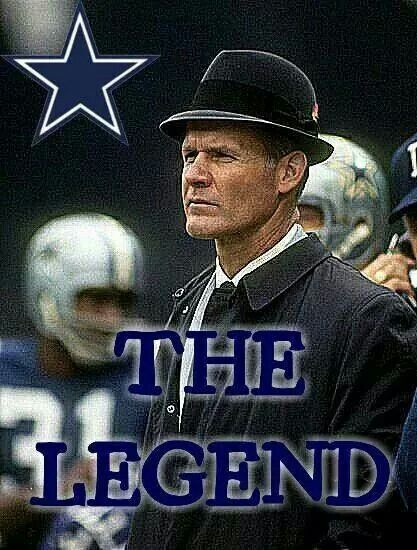 Tom Landry, I never liked the cowboys but I always admired what a good calm well dressed coach he was.