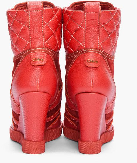 cd5fb061d2a Women s Red Wedge Sneakers