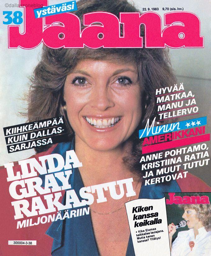 Linda Gray fell in love with a millionaire! Jaana magazine 1983.