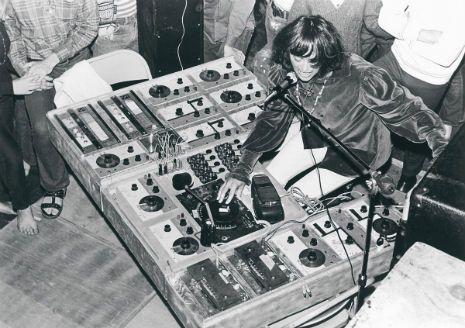 Just a few really cool photos of Silver Apples' homemade electronics rig, 1968