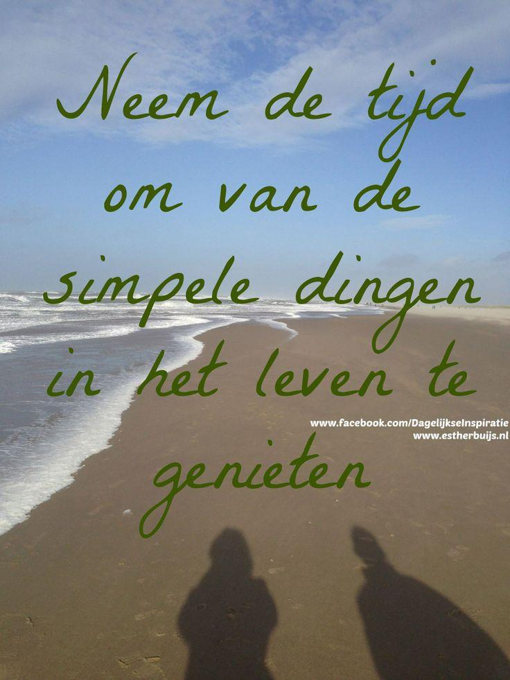 Neem de tijd om van de simpele dingen in het leven te genieten! Start nu! http://babyboomersdiegenieten.blogspot.nl