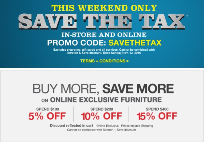 Lowes Canada Tax Event: Save The Tax with Promo Code  Buy More Save More Sale! http://www.lavahotdeals.com/ca/cheap/lowes-canada-tax-event-save-tax-promo-code/137433