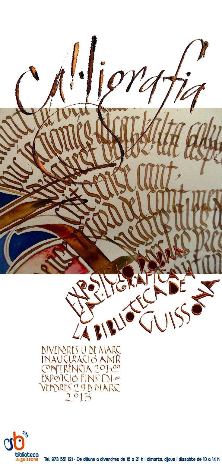 Exposición de obra caligráfica de Keith y Amanda Adams