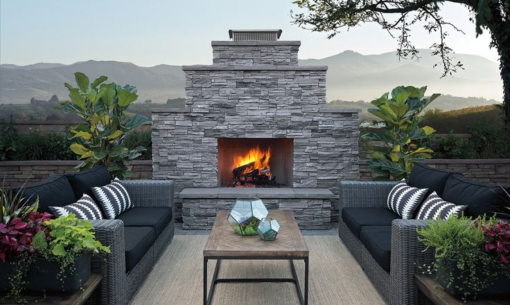 Eldorado Stone - Sherwood™ Wood Burning Fireplace
