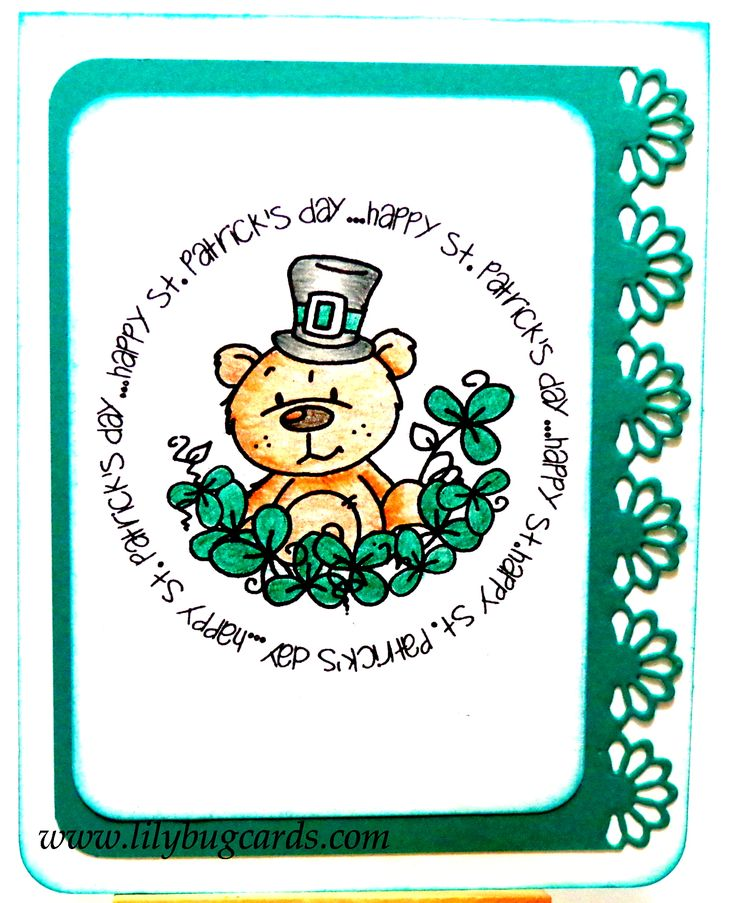 Bugaboo digi for St. Paddy's day in Derwent softcolours.