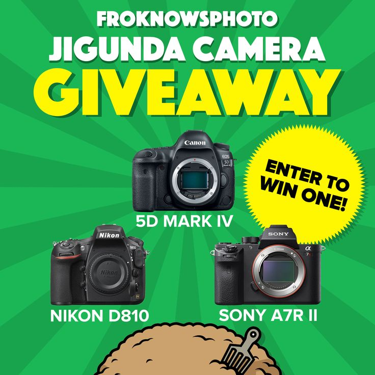 WHOA! The Fro is giving away your choice of a Canon 5D Mark IV, Nikon D810, or Sony A7R II and over $1,200 in other prizes...