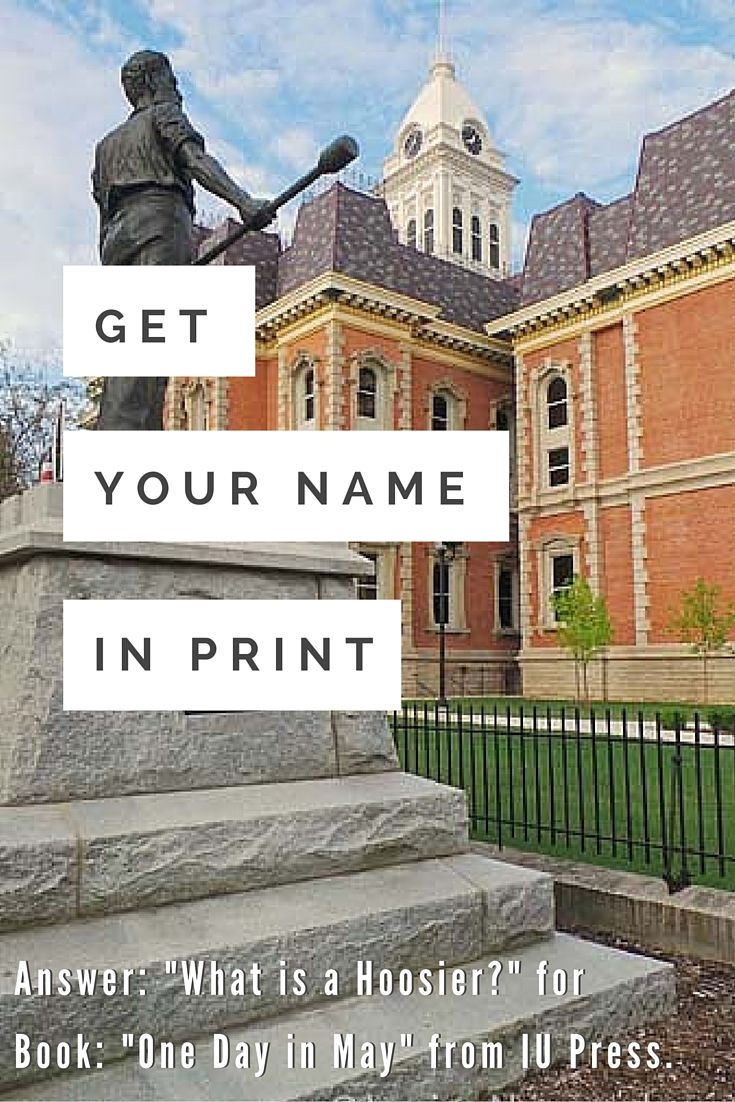 "Want to see your name in print? Submit an image taken May 20, 2016 and be a part of ""One Day in May"" the book that answers the questions, ""What is a Hoosier?"" #iupress"