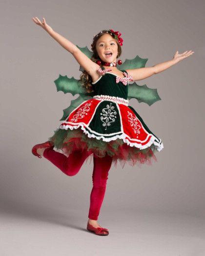 christmas fairy girls costume
