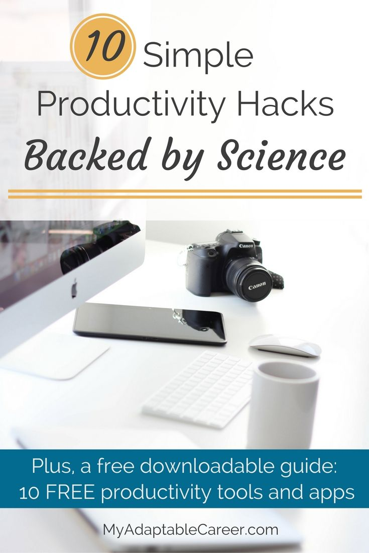Learn how to be more productive with these tips, plus download a free guide to 10 FREE productivity tools. Pin now and read later! via @adaptablecareer