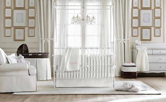 Beauty Luxury Girl Nursery Ideas in Classic Design by Baby Restoration