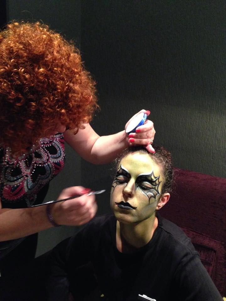 making-up of a witch