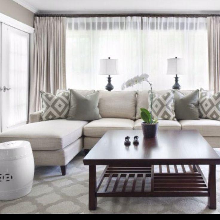 Design Für Vorhänge Im Wohnzimmer (mit Bildern) | Kleines ...