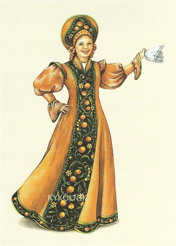 Русская одежда в открытках