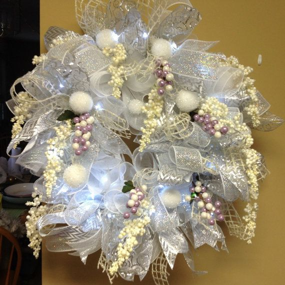 14 best wreaths wedding images on Pinterest  Deco mesh