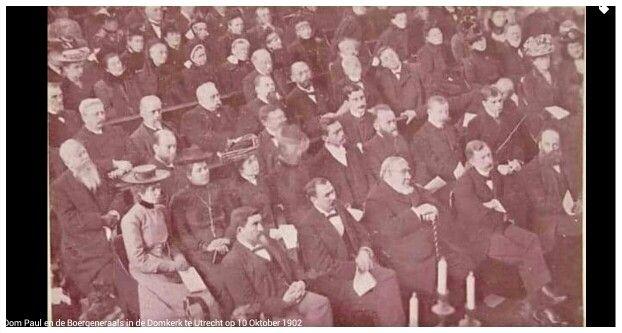 Die Boervolk: Oom Paul en die Boergeneraals in die Domkerk te Utrecht 10 Oktober1902