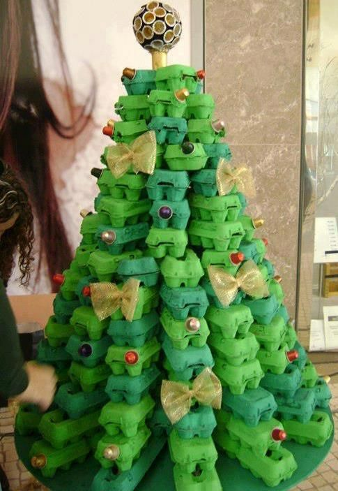 TMVbijoux: Inspiração do dia - Árvores de Natal alternativas, com material reciclavel
