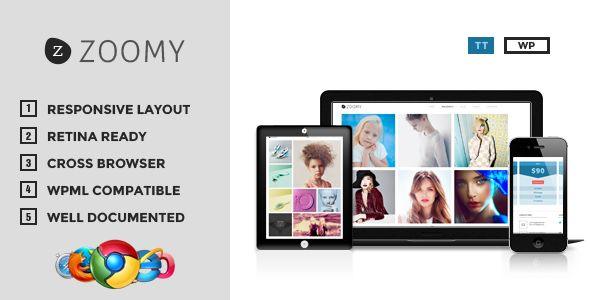 Zoomy - Professional Photography WordPress Theme