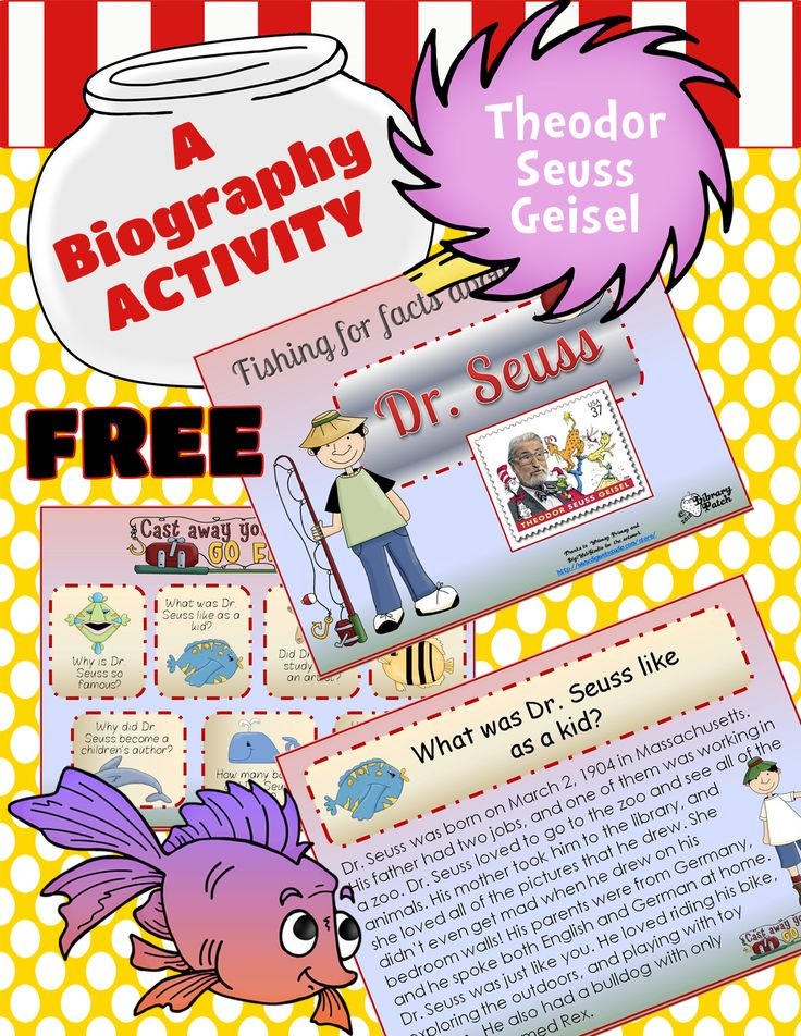 Go fishing for facts about Dr. Seuss with this FREE Powerpoint slideshow.