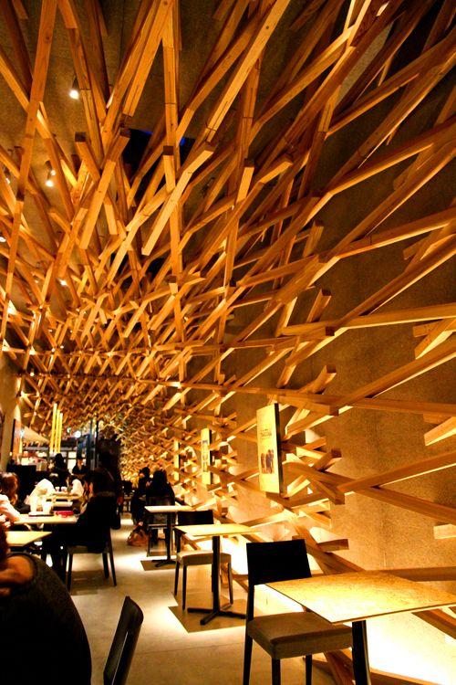 Starbucks Dazaifu Tenmanguu Omotesando,Fukuoka,Japan by Kengo Kuma.