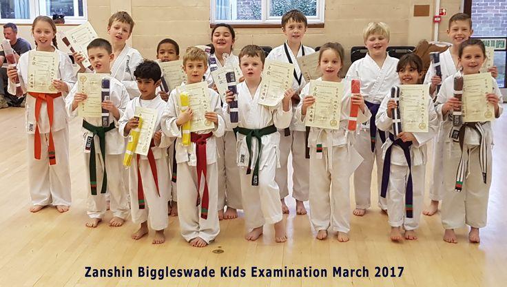 Kids karate examination at Biggleswade Dojo March 2017