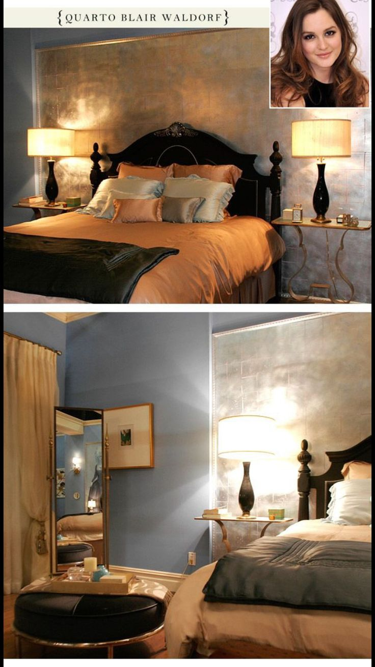 Blair waldorf bedroom home design for Gossip girl apartment floor plans