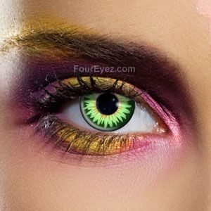 Just ordered these for Halloween! Green 3 Tone Prescription Coloured Contact Lenses