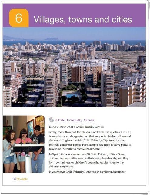 "Unidad 6 de Social Science de 3º de Primaria: ""Villages, towns and cities"""