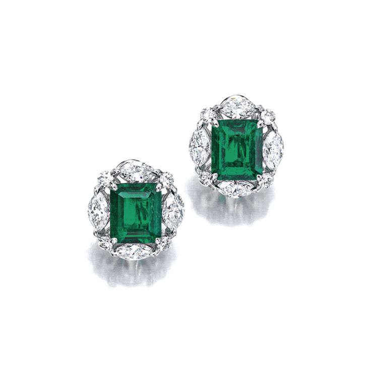 Emerald Cut Diamond Earring Jackets