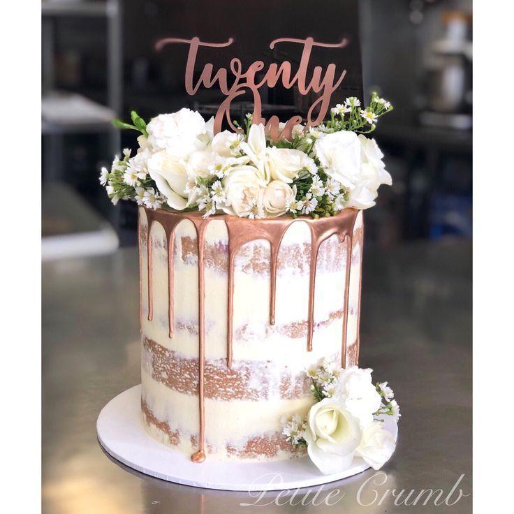 Einundzwanzig Rose Gold Cake Topper Cake Einundzwanzig Gold Rose Topper Einundzwanzig Rose Gol In 2020 Rose Gold Cake Rose Gold Cake Topper Birthday Drip Cake