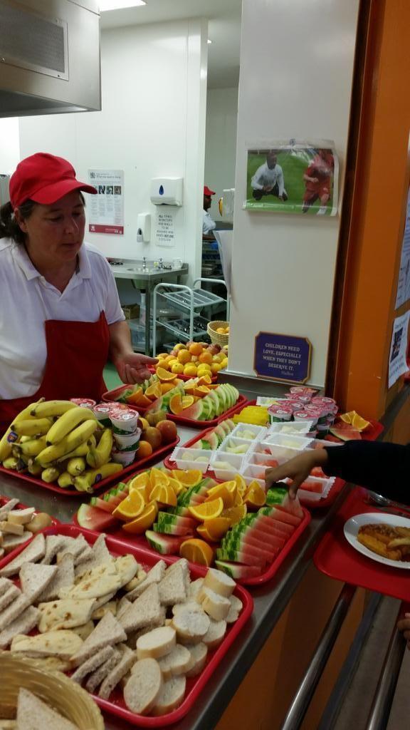 Healthy school food at Northbury Primary.