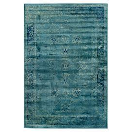 Color pop! Anchor your living room seating group or define space in the den with this loomed art silk rug, showcasing an antiqued Persian motif for classic appeal.   Product: RugConstruction Material: Art silkColor: Turquoise and multiFeatures:  Made in BelgiumPower-loomed  Note: Please be aware that actual colors may vary from those shown on your screen. Accent rugs may also not show the entire pattern that the corresponding area rugs have.Cleaning and Care: Professional cleaning…