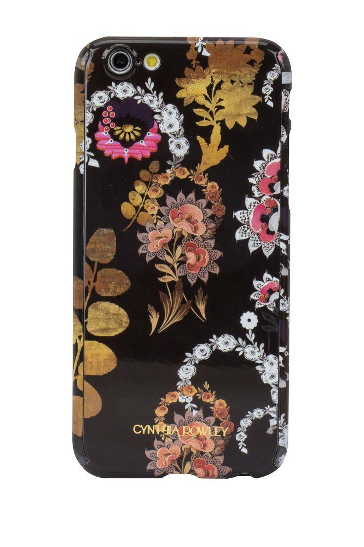 Black/Multi Color Petals Skinny Wrap iPhone 6/6s Case